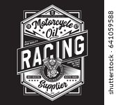 motorcycle racing typography ... | Shutterstock .eps vector #641059588