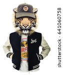 tiger illustration  tee shirt... | Shutterstock . vector #641060758