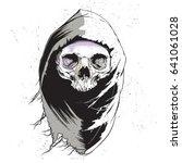 grim reaper  human skull... | Shutterstock .eps vector #641061028