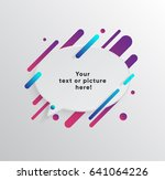 vector background with paper... | Shutterstock .eps vector #641064226