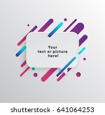 vector background with paper... | Shutterstock .eps vector #641064253