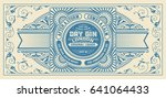 gin label with floral frame | Shutterstock .eps vector #641064433