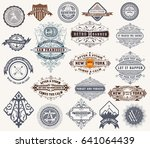 mega set of badges  western... | Shutterstock .eps vector #641064439