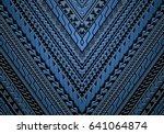 maori and samoa ethnic style... | Shutterstock .eps vector #641064874