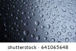 silver water drops background. | Shutterstock . vector #641065648