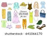 vector illustration of summer... | Shutterstock .eps vector #641066170