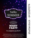 summer night party template... | Shutterstock .eps vector #641069074