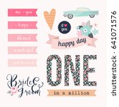 love stickers. signs  symbols ... | Shutterstock .eps vector #641071576