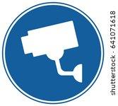 video surveillance sign blue.... | Shutterstock .eps vector #641071618