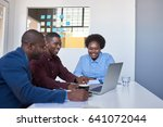 three casually dressed african... | Shutterstock . vector #641072044