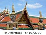 giant demons  yaksha  guarding...   Shutterstock . vector #641073730