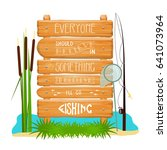 Vector Wooden Sign With...