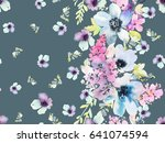 seamless pattern on a gray... | Shutterstock . vector #641074594