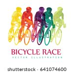 cycling race colorful... | Shutterstock .eps vector #641074600