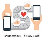 mobile communication  conveyor... | Shutterstock .eps vector #641076106