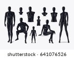 mannequins . fashion clothing... | Shutterstock . vector #641076526