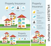 banners. property insurance.... | Shutterstock .eps vector #641078764