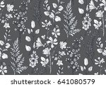 seamless pattern with hand... | Shutterstock .eps vector #641080579