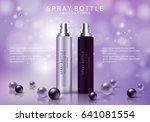 spray bottles isolated on... | Shutterstock .eps vector #641081554