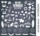 summer vintage silhouettes and... | Shutterstock .eps vector #641082064
