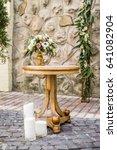 floral wedding decoration in... | Shutterstock . vector #641082904