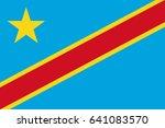 vector congo flag  congo flag... | Shutterstock .eps vector #641083570