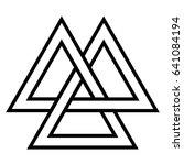valknut  viking age symbol ... | Shutterstock .eps vector #641084194