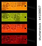vector set of four shopping... | Shutterstock .eps vector #64108807