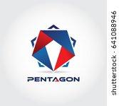 pentagon military logo design... | Shutterstock .eps vector #641088946