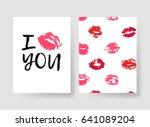 set of templates for romantic... | Shutterstock .eps vector #641089204
