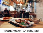 dinner on the table in the... | Shutterstock . vector #641089630