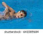 child athlete swimming free... | Shutterstock . vector #641089684