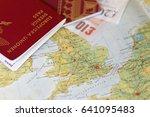 Passport And English Pound Bill ...