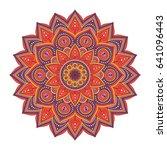 mandala. ethnic round ornament. ... | Shutterstock .eps vector #641096443