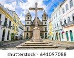bright view of pelourinho in...   Shutterstock . vector #641097088