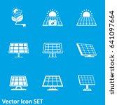 solar panel icon   Shutterstock .eps vector #641097664