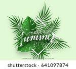 hello summer banner tropical... | Shutterstock .eps vector #641097874