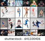 collage about different kind of ... | Shutterstock . vector #641100406