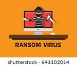 ransom virus computer.   Shutterstock .eps vector #641102014