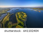 aerial shot of lakes in... | Shutterstock . vector #641102404