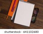 office  work  notepad ... | Shutterstock . vector #641102680