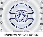lifebuoy  icon  vector... | Shutterstock .eps vector #641104333