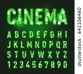 bulb lamp neon letters abc... | Shutterstock .eps vector #641106460