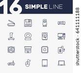 set of 16 notebook outline... | Shutterstock .eps vector #641111188