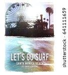 photo print california beach...   Shutterstock . vector #641111659
