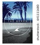 photo print  california beach... | Shutterstock . vector #641111680