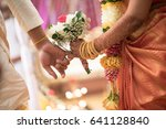 south indian ceylonese couple... | Shutterstock . vector #641128840