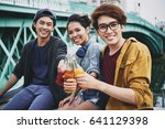 group portrait of smiling... | Shutterstock . vector #641129398