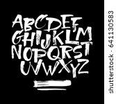 vector hand drawn alphabet.hand ... | Shutterstock .eps vector #641130583