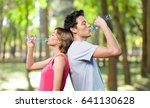 drinking couple. | Shutterstock . vector #641130628